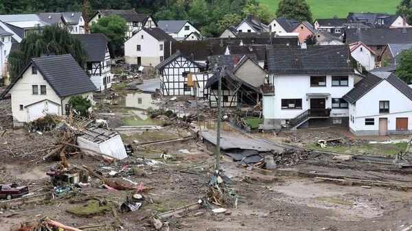 Последствия наводнения в Шульде, Германия