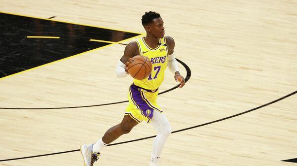 Баскетболист Лос-Анджелес Лейкерс Деннис Шредер