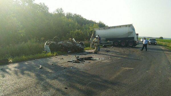 ДТП в Хохольском районе Воронежской области в результате которого погибло три человека