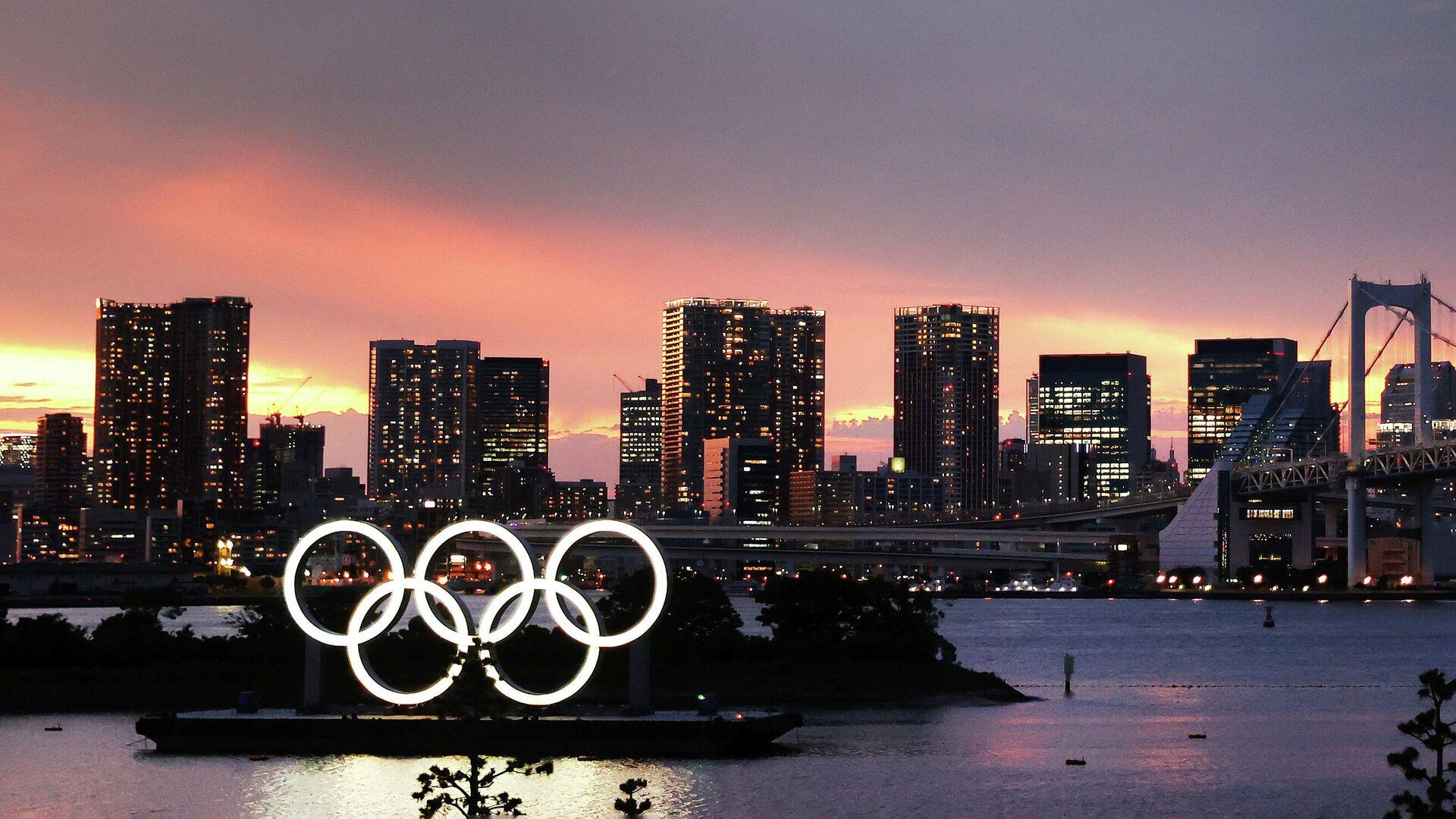 Олимпийские кольца в Токио - РИА Новости, 1920, 21.07.2021