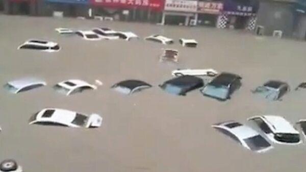 Последствия наводнения в китайской провинции Хэнань