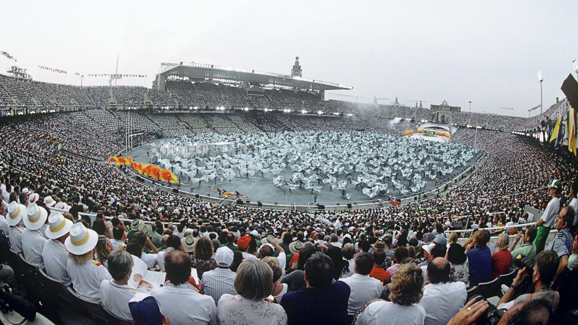 Торжественная церемония открытия XXV летних Олимпийских игр в Барселоне - РИА Новости, 1920, 22.07.2021