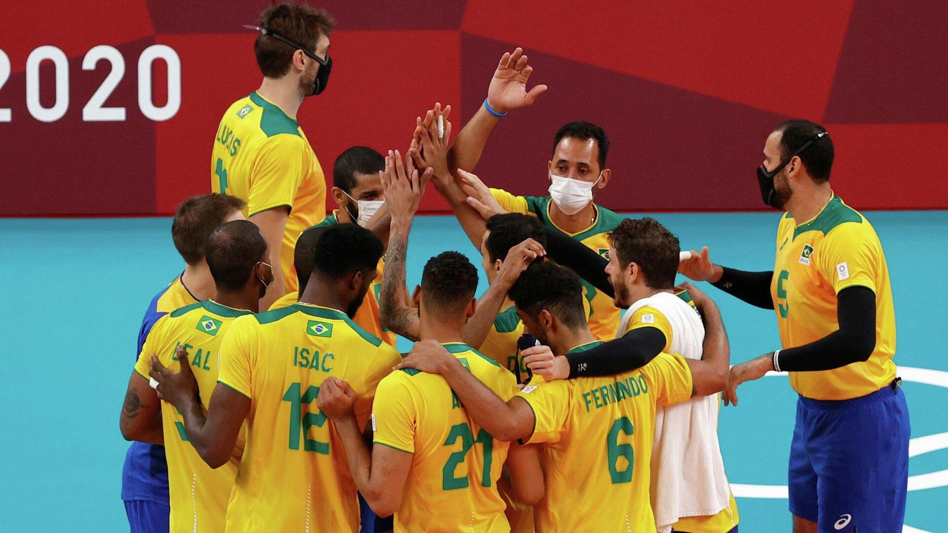 Волейболисты сборной Бразилии - РИА Новости, 1920, 24.07.2021
