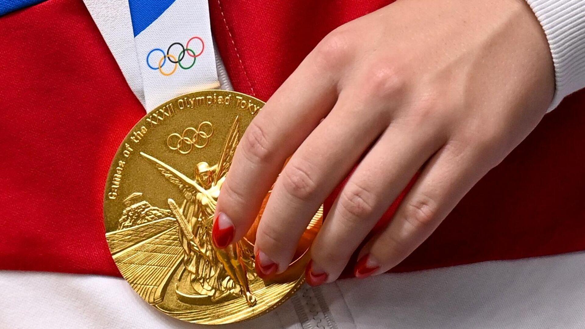 Золотая медаль Виталины Бацарашкиной - РИА Новости, 1920, 25.07.2021