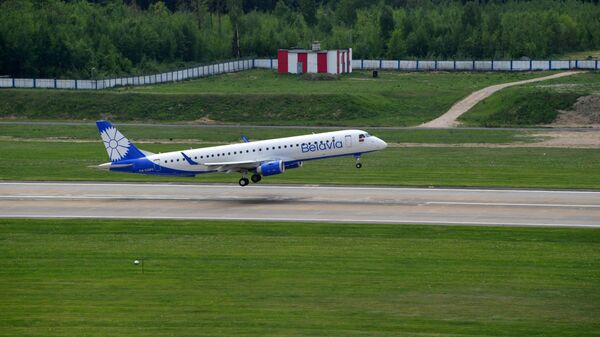 Самолет белорусской авиакомпании Белавиа