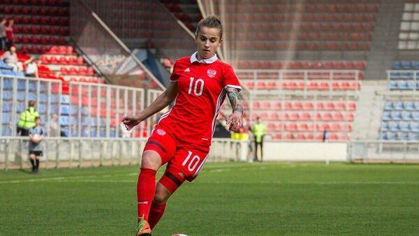 Футболистка Марина Кисконен.