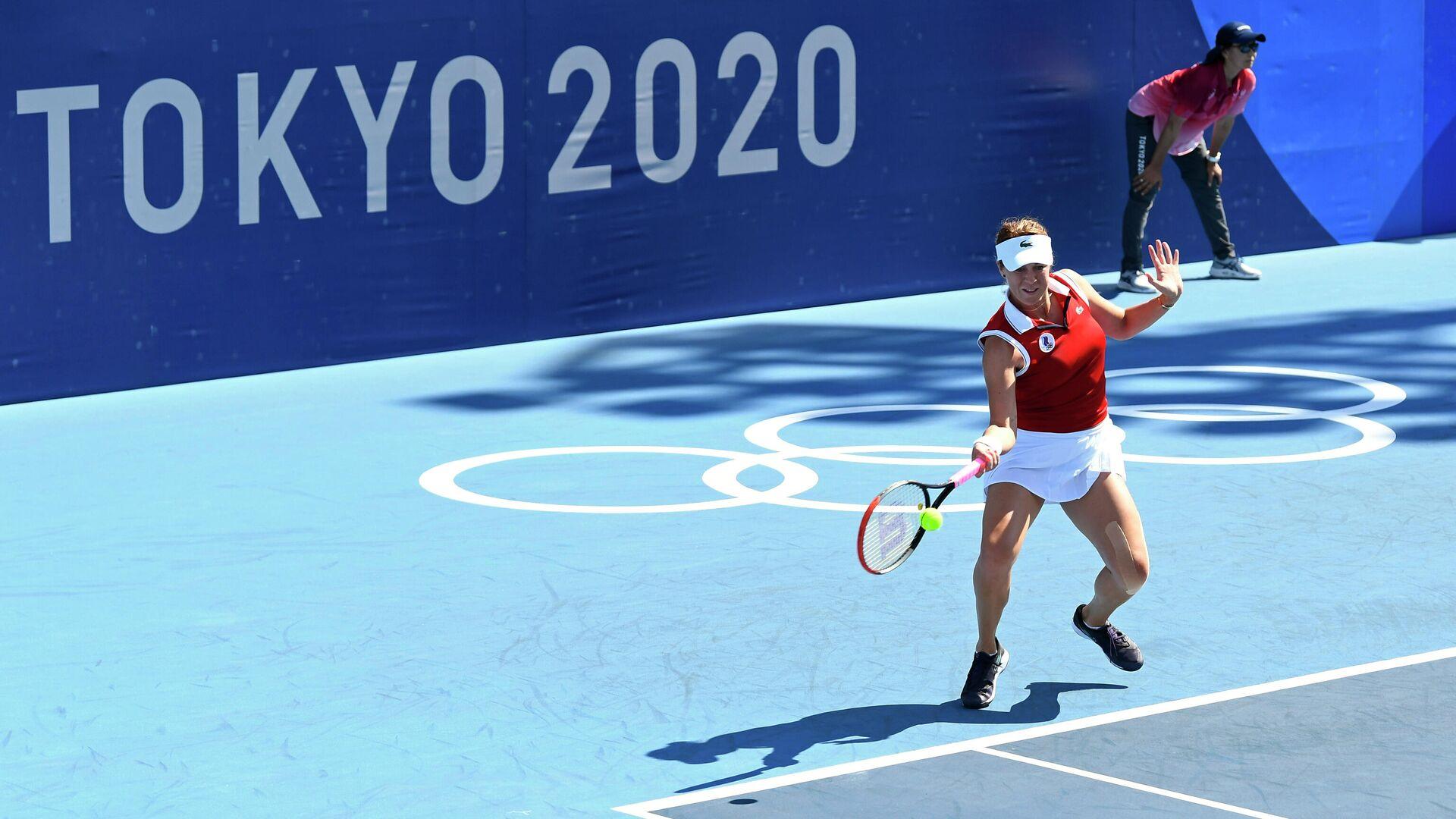 Анастасия Павлюченкова на Олимпийских играх в Токио - РИА Новости, 1920, 28.07.2021