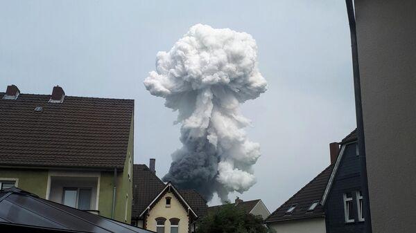Взрыв на мусоросжигающем предприятии в Леверкузене, Германия