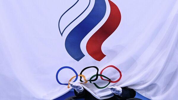 Флаг Олимпийского комитета России