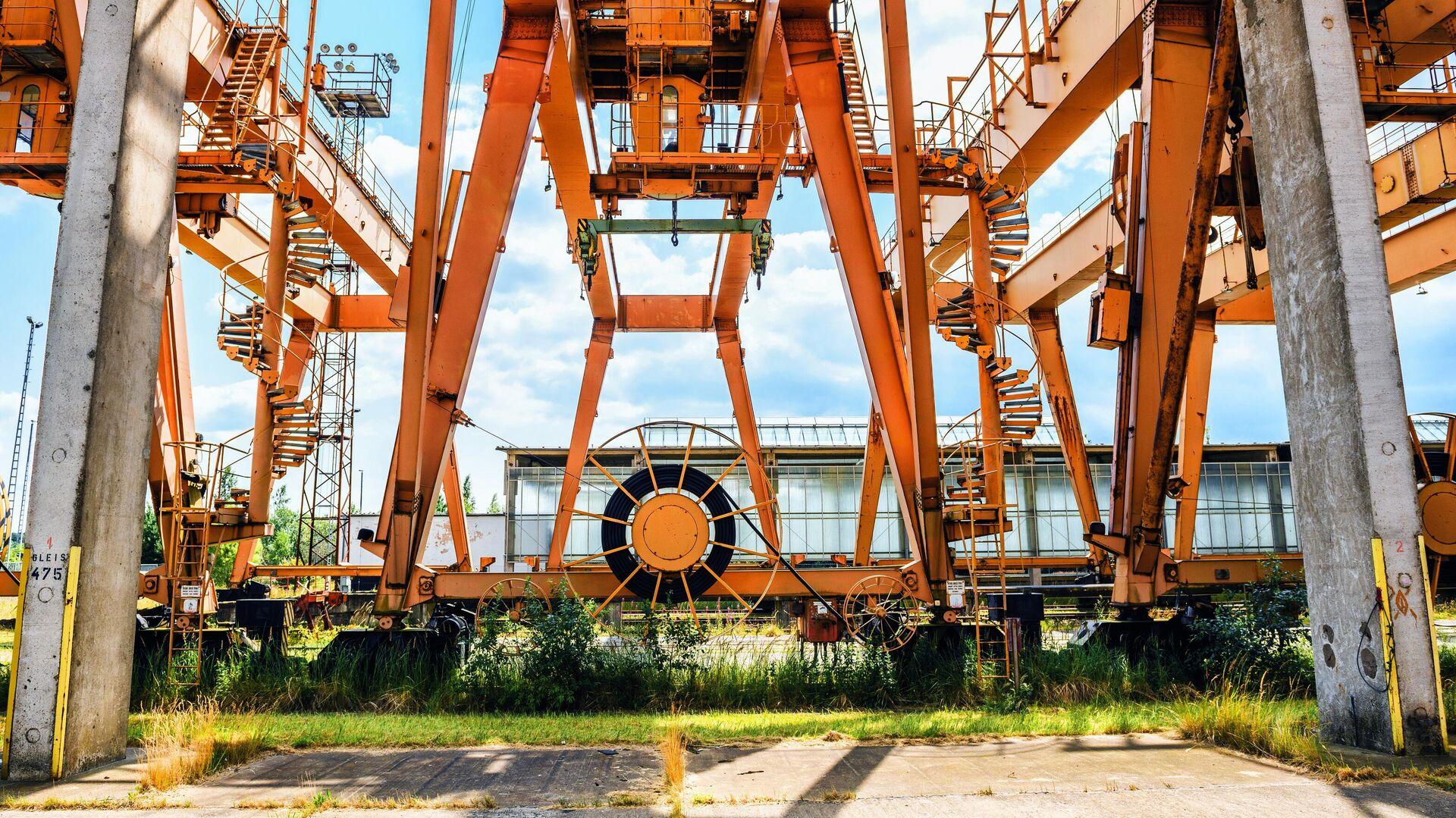 На территории немецкого порта Мукран на острове Рюген - РИА Новости, 1920, 02.08.2021