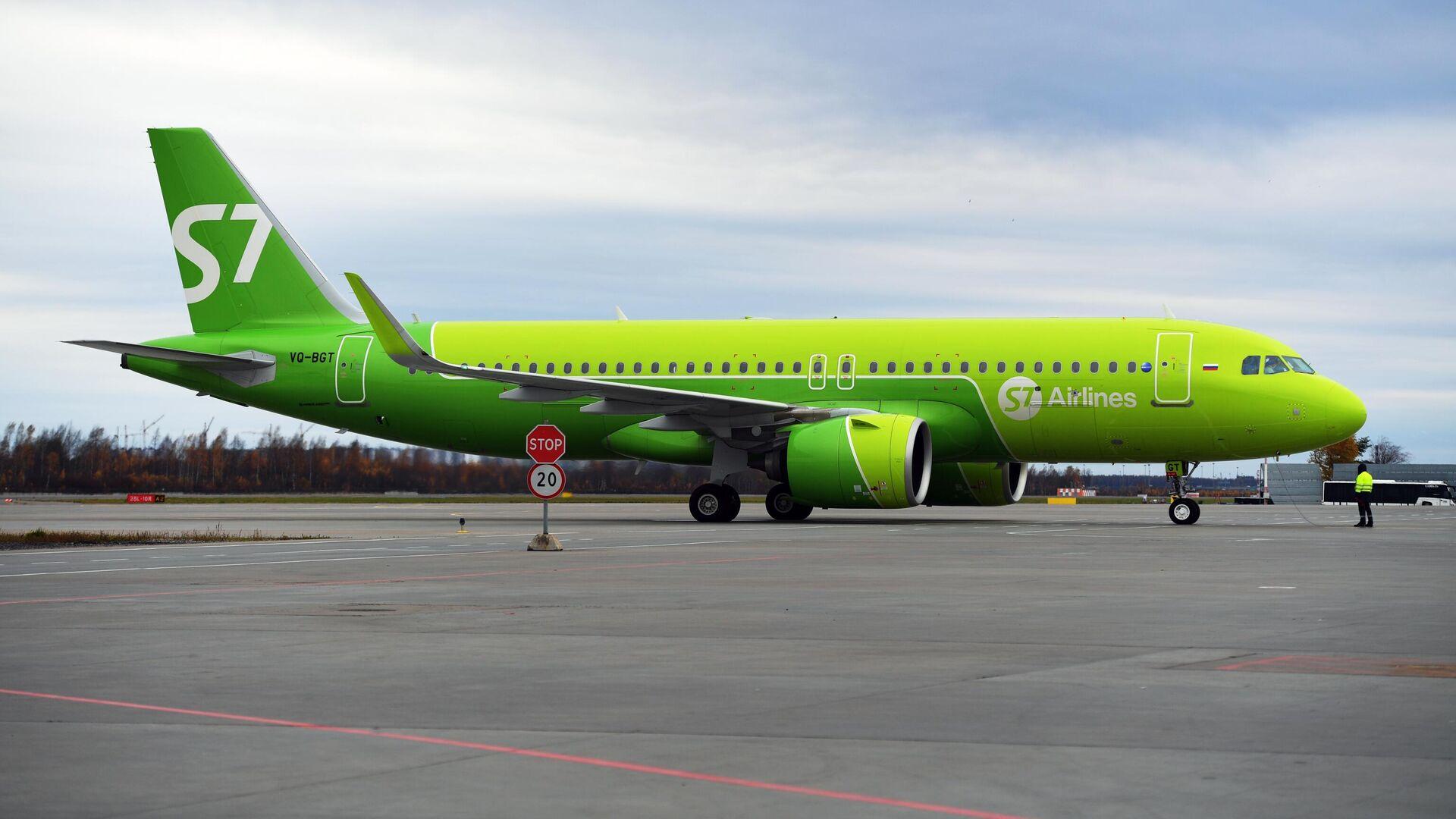 Самолет Airbus A320neo авиакомпании S7 Airlines - РИА Новости, 1920, 28.07.2021