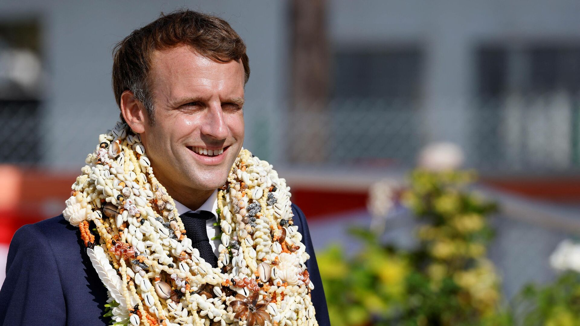 Президент Франции Эммануэль Макрон во время поездки во Французскую Полинезию - РИА Новости, 1920, 28.07.2021