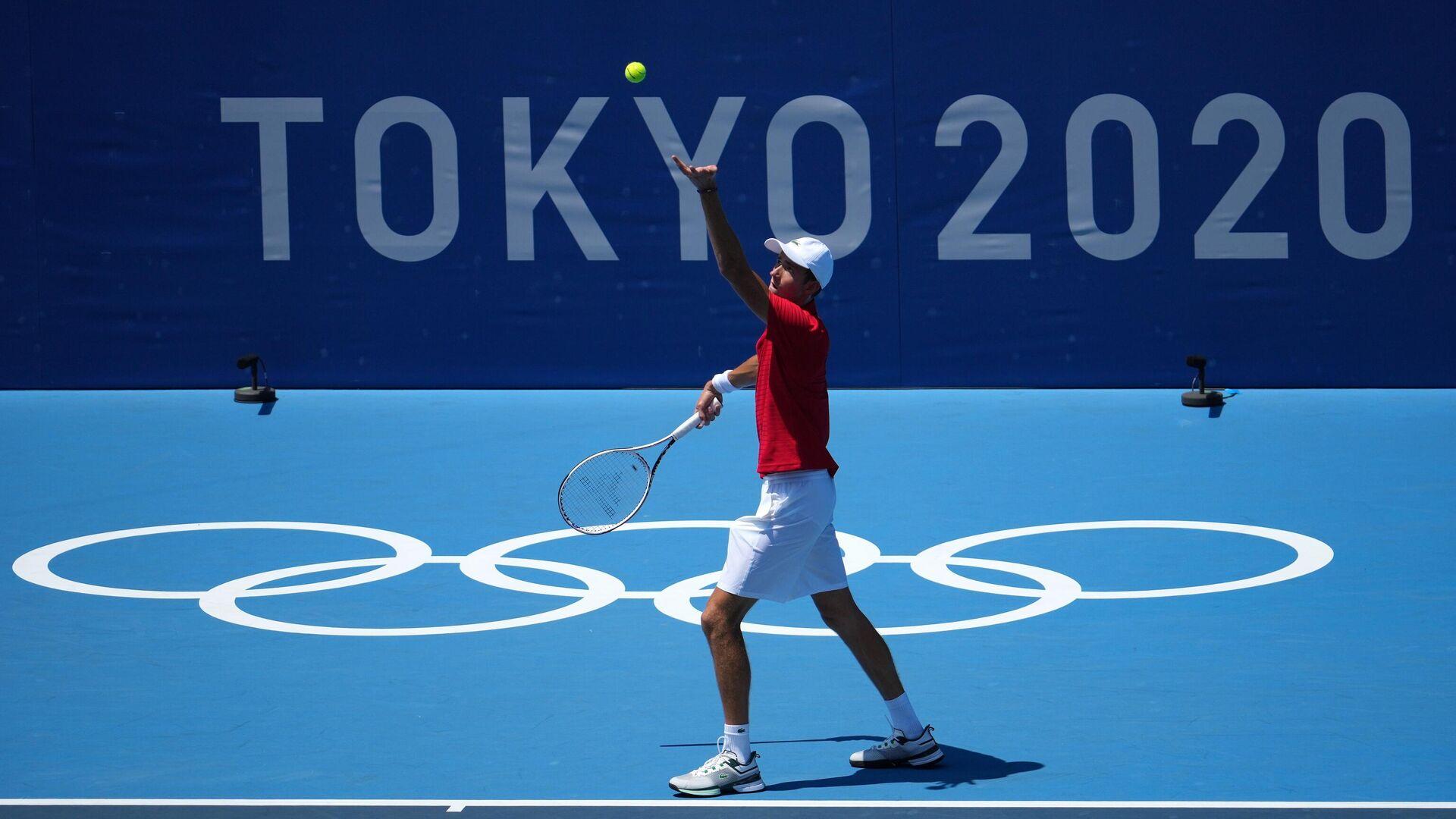 Даниил Медведев на Олимпиаде в Токио - РИА Новости, 1920, 29.07.2021