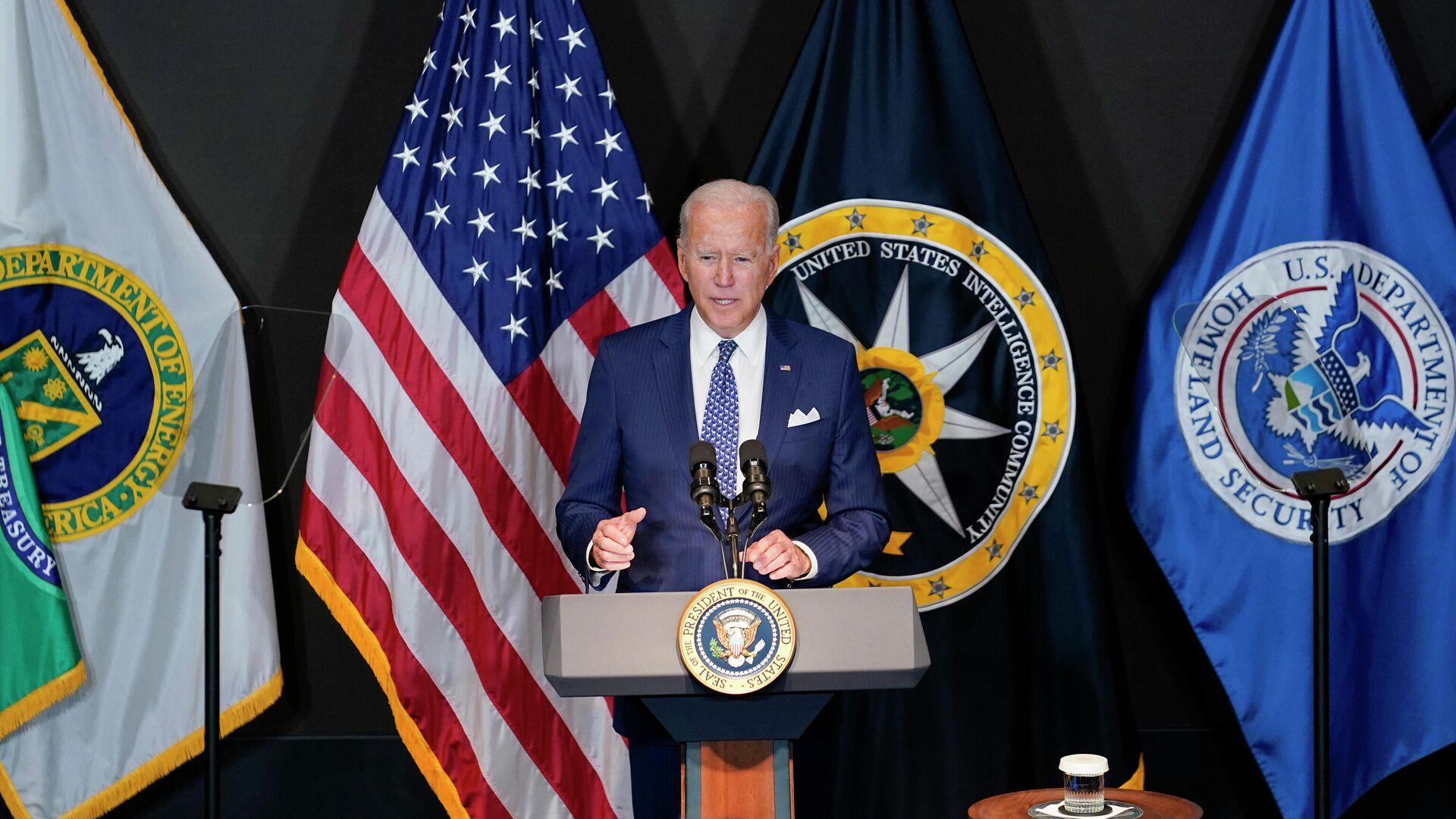 Президент США Джо Байден во время визита в офис директора Национальной разведки - РИА Новости, 1920, 29.07.2021
