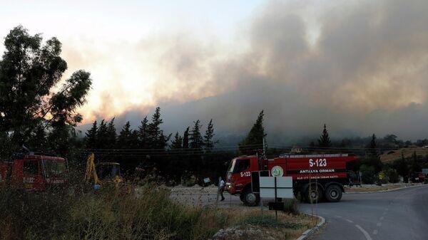 Природные пожары в Турции