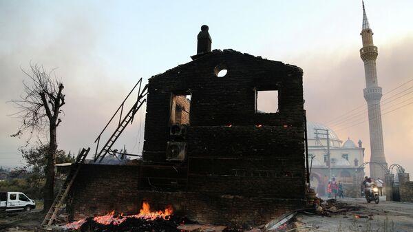 Последствия пожара в Манавгате, Турция