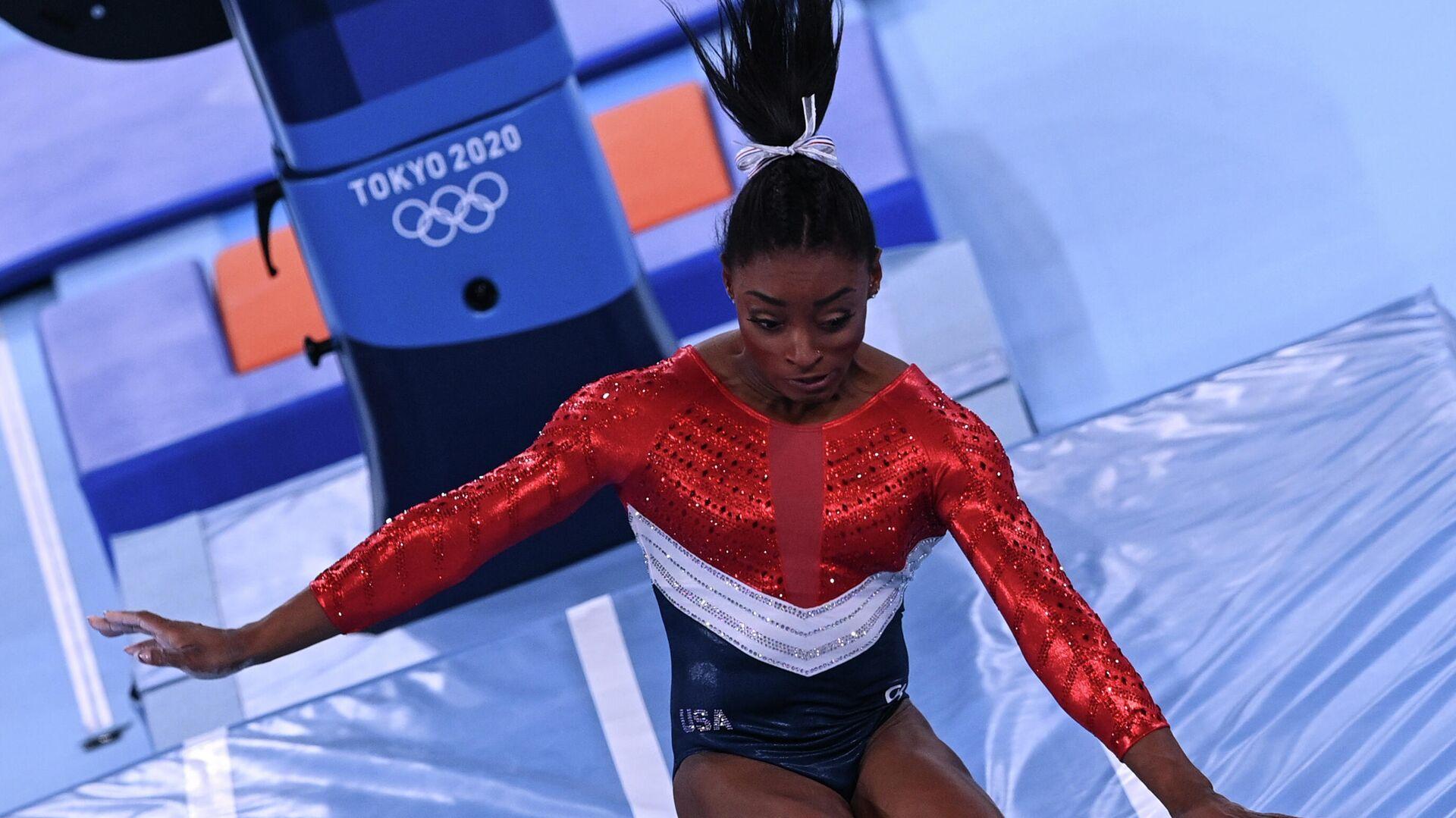 Олимпиада-2020. Спортивная гимнастика. Женщины. Командное многоборье - РИА Новости, 1920, 01.08.2021
