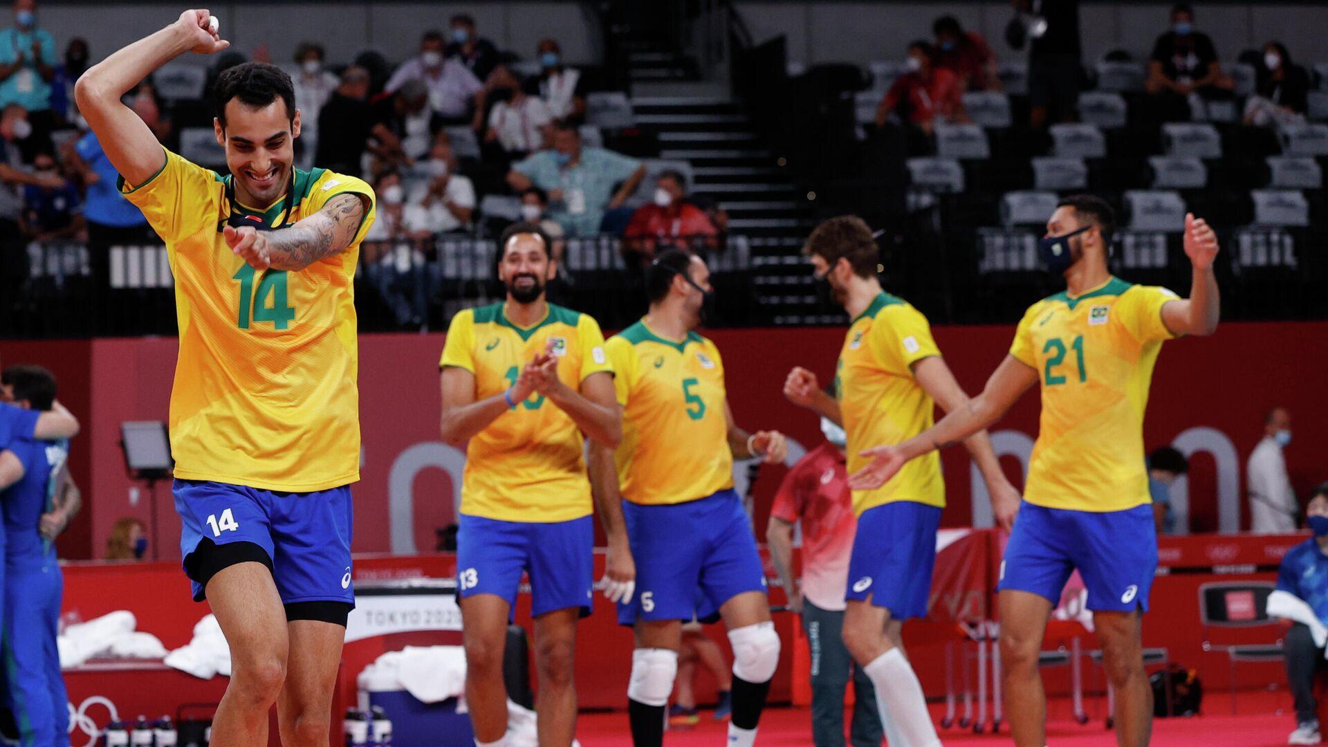 Волейболисты сборной Бразилии - РИА Новости, 1920, 01.08.2021