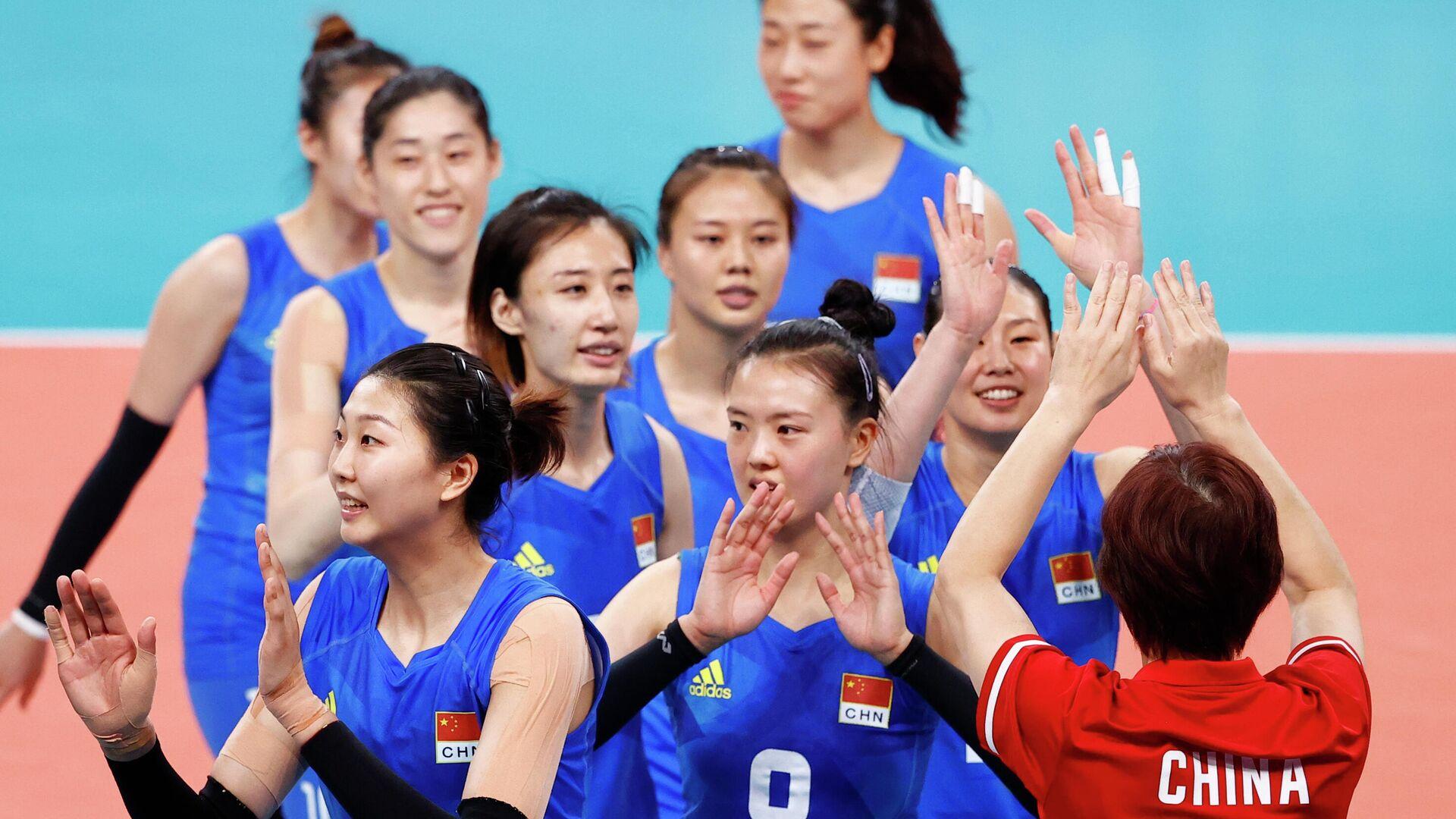 Волейболистки сборной Китая - РИА Новости, 1920, 02.08.2021