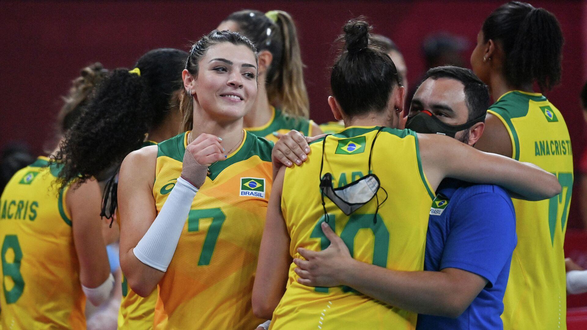 Женская сборная Бразилии по волейболу - РИА Новости, 1920, 02.08.2021