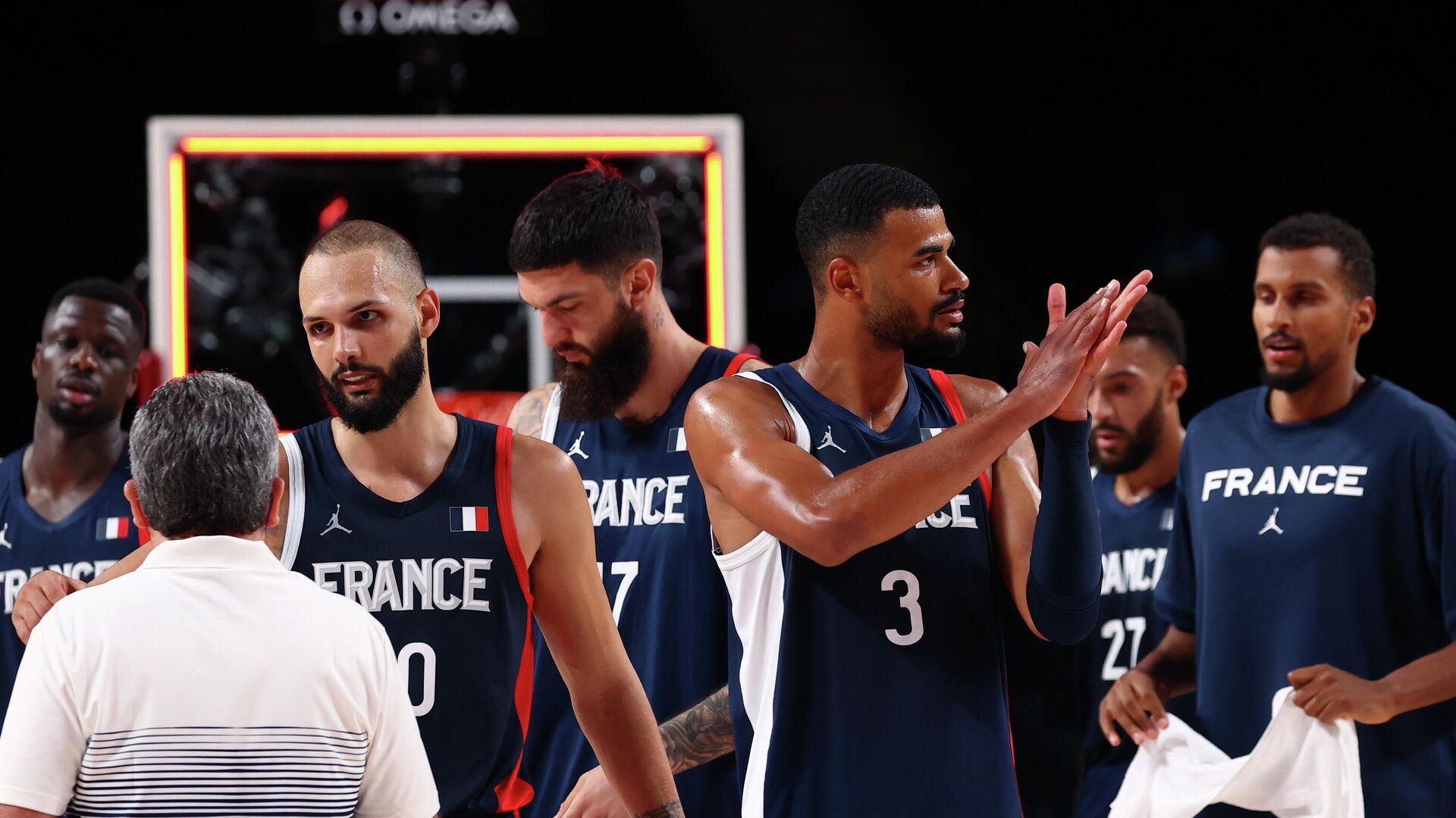 Баскетболисты сборной Франции - РИА Новости, 1920, 03.08.2021