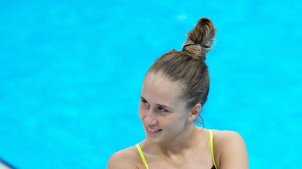Российская спортсменка, член сборной России (команда ОКР) по прыжкам в воду Юлия Тимошинина