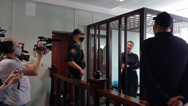 Лидер белорусской оппозиции Мария Колесникова, обвиняемая в создании экстремисткой организации и заговоре с целью захвата власти в сентябре 2020 года