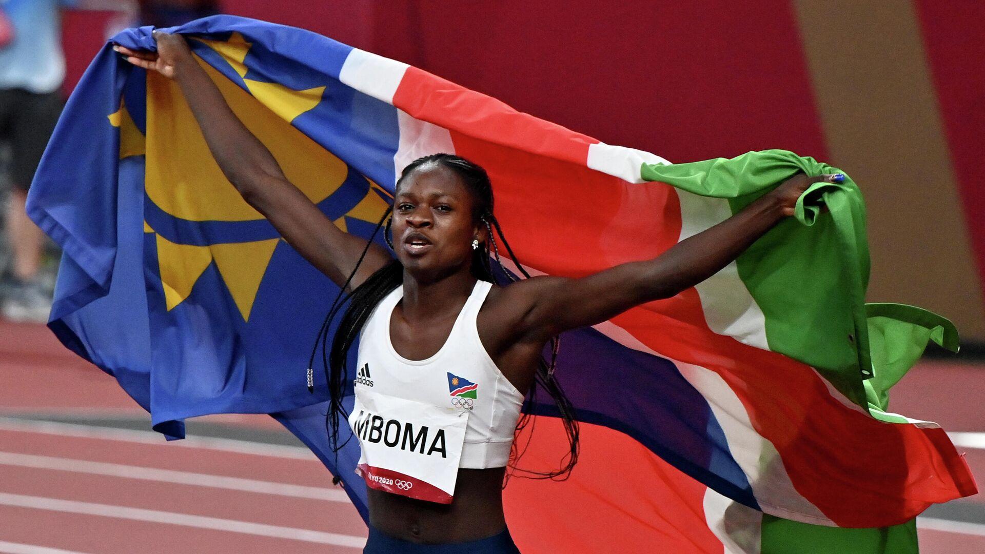 18-летняя спортсменка из Намибии Кристин Мбома - РИА Новости, 1920, 04.08.2021