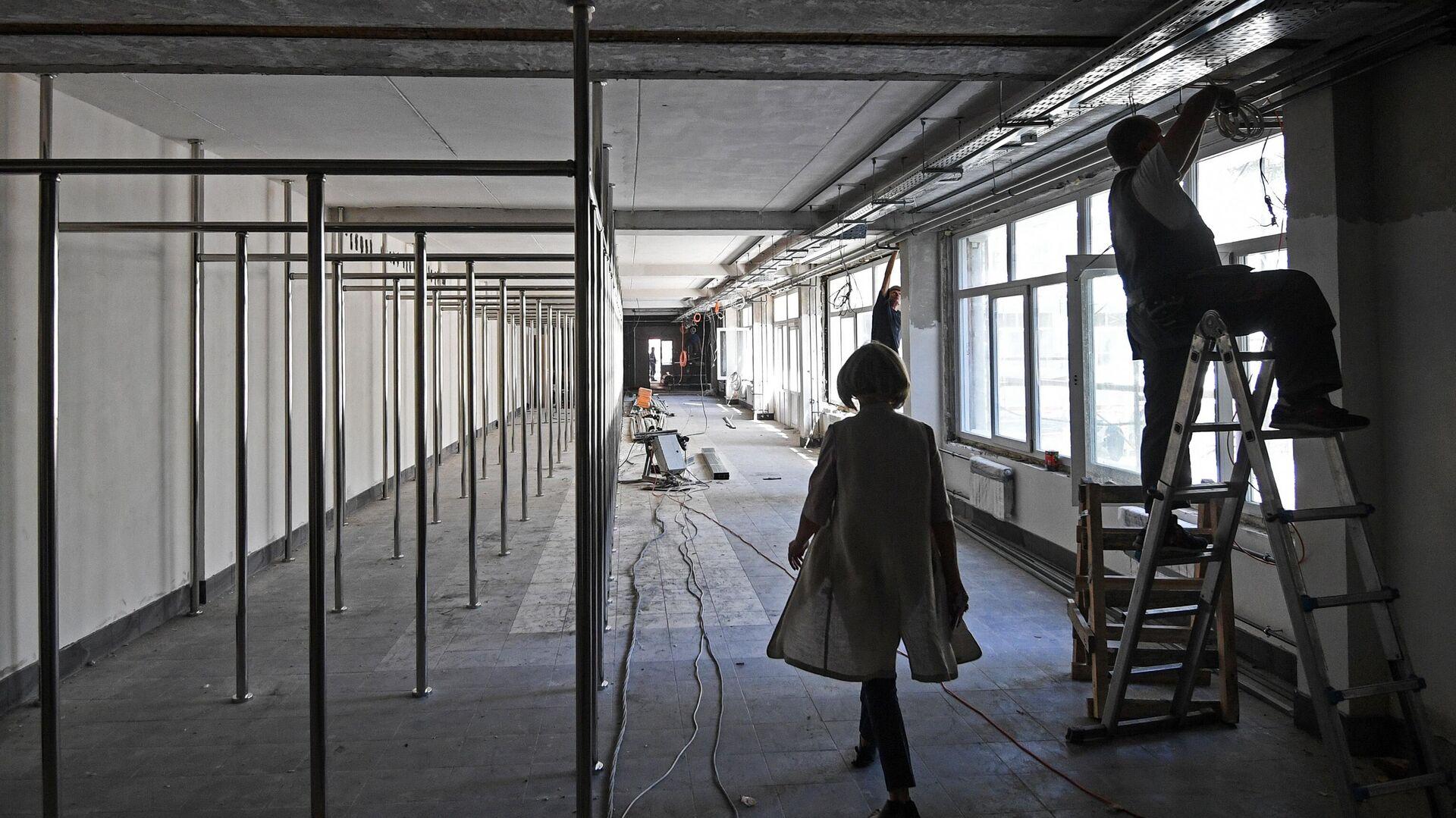 Капитальный ремонт в школе - РИА Новости, 1920, 04.08.2021