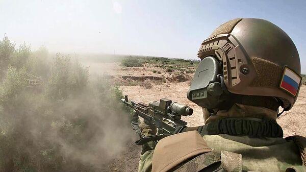 Учения спецназа России и Узбекистана на полигоне Термез