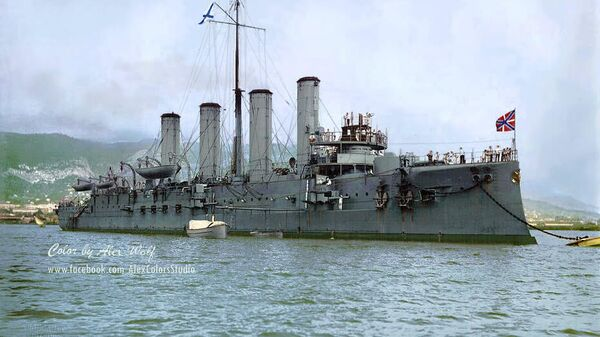 Крейсер Адмирал Макаров, май 1908 года