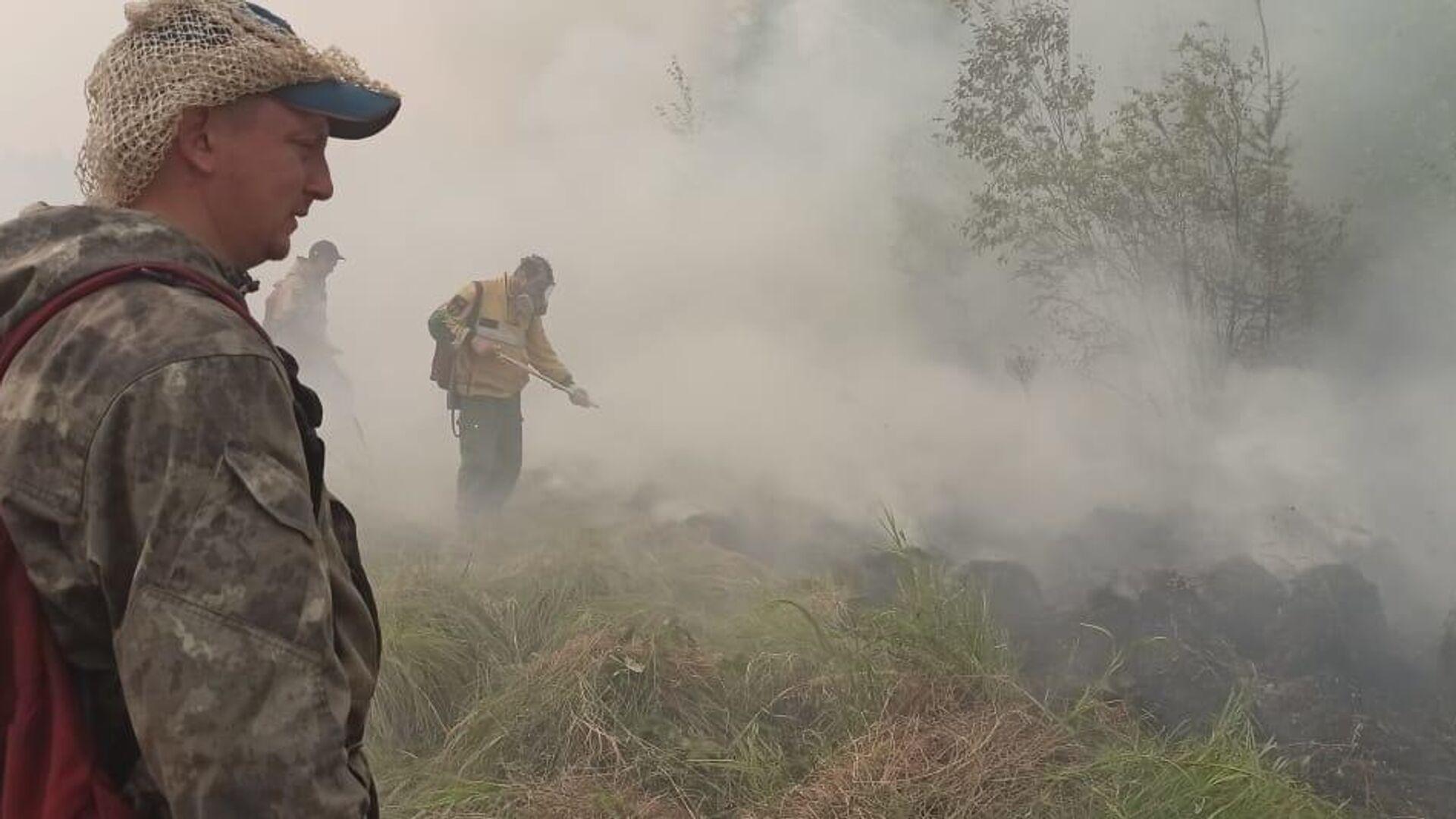 Тушение лесных пожаров в Якутии - РИА Новости, 1920, 08.08.2021