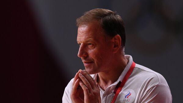 Главный тренер женской сборной России по гандболу Алексей Алексеев