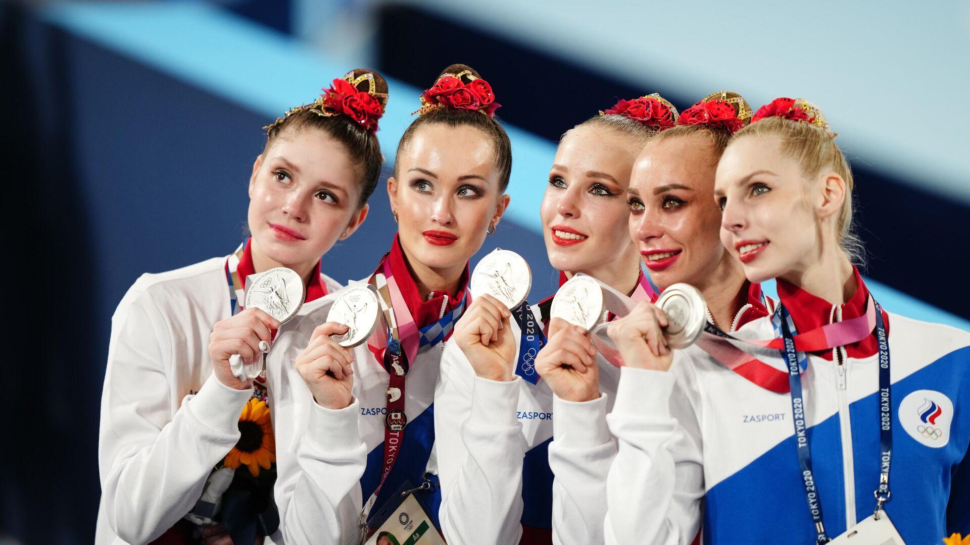 Российские гимнастки - РИА Новости, 1920, 10.08.2021