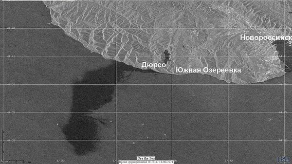 Разлив нефти у Новороссийска. Спутниковая съемка Института космических исследований РАН