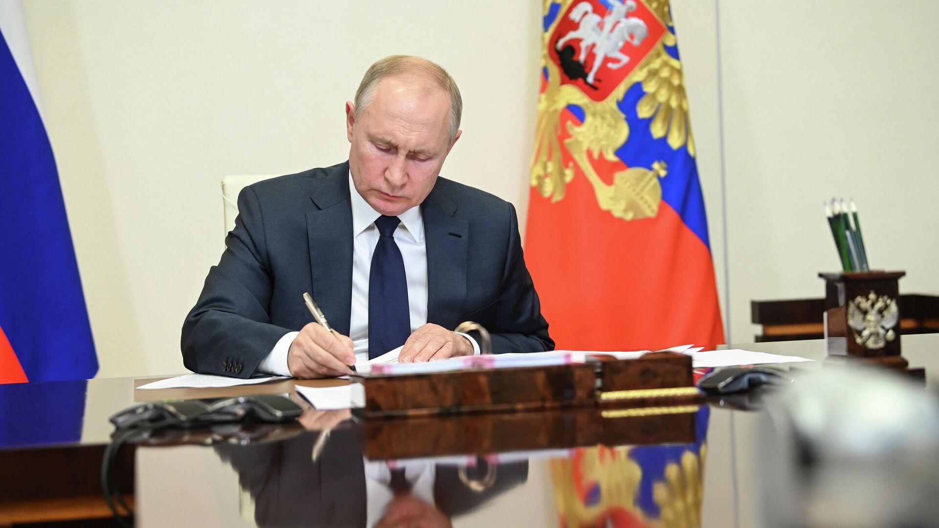 Президент РФ Владимир Путин - РИА Новости, 1920, 21.09.2021