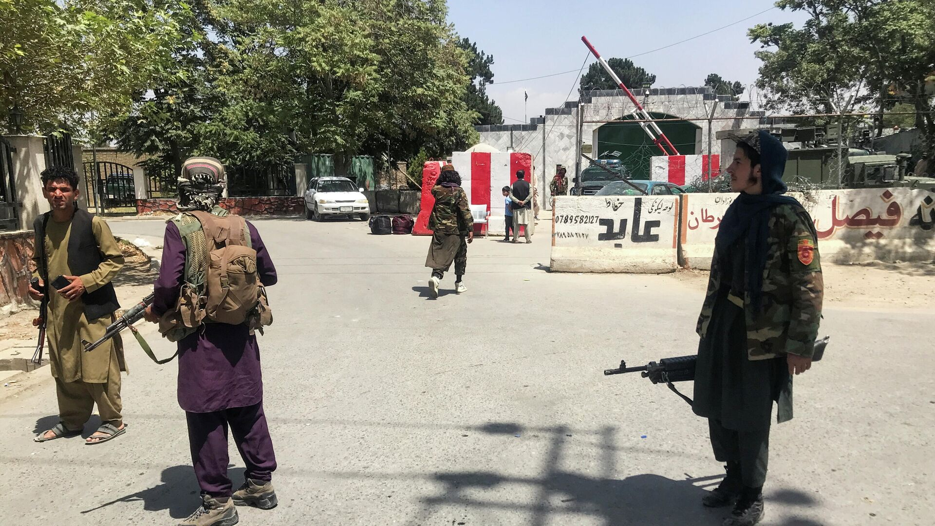 Боевики Талибана* в Кабуле - РИА Новости, 1920, 17.08.2021