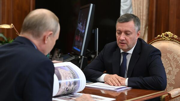 Президент РФ В. Путин провел встречу с врио губернатора Иркутской области И. Кобзевым