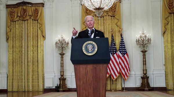 Президент США Джо Байден во время выступления с заявлением по ситуации в Афганистане