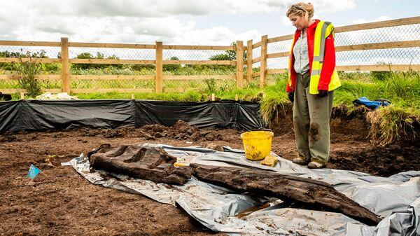 Деревянный идол, найденный в комплексе археологических раскопок Раткроган в Ирландии