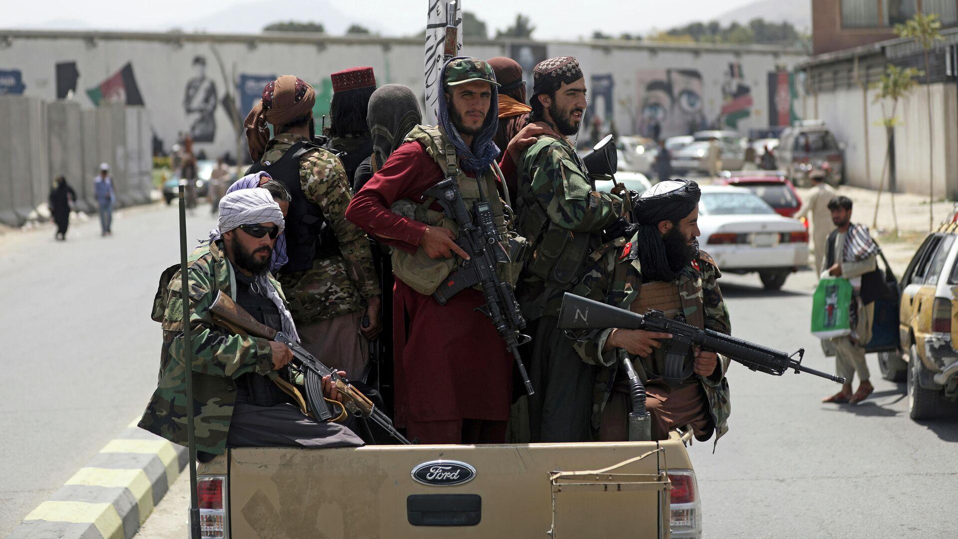 Боевики Талибана* в Кабуле - РИА Новости, 1920, 21.08.2021