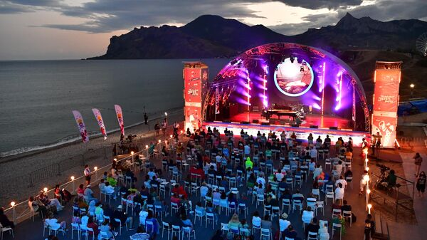 На открытии Международного джазового фестиваля Koktebel Jazz Party - 2021 в Крыму