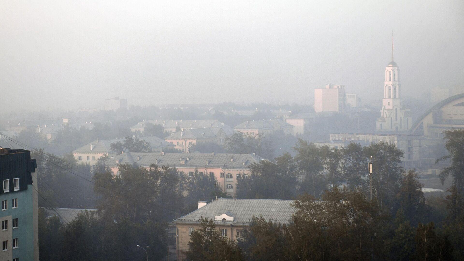 Смог от лесных пожаров в Екатеринбурге - РИА Новости, 1920, 14.10.2021