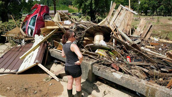 Последствия наводнения в штате Теннесси на востоке США