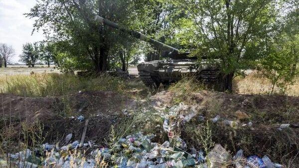 Танк, обнаруженный в Волгограде, оставлен рядом со свалкой