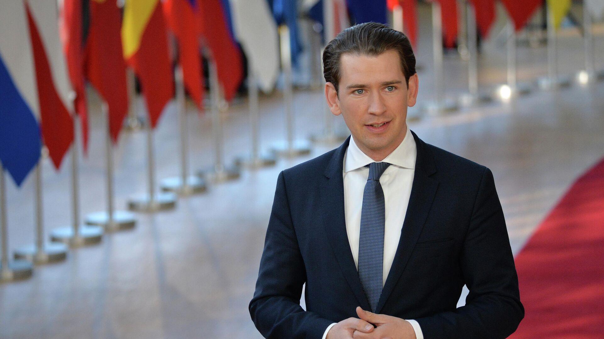 Канцлер Австрии Себастьян Курц на экстренном саммите ЕС по Brexit в Брюсселе - РИА Новости, 1920, 27.08.2021