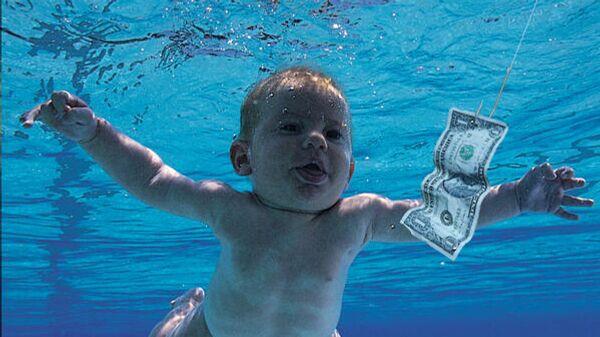 Фрагмент обложки альбома Nevermind группы Nirvana