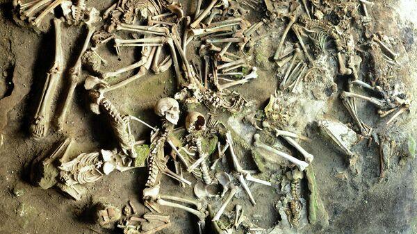 Останки жителей Геркуланума, погибших во время извержения Везувия в 79 году нашей эры