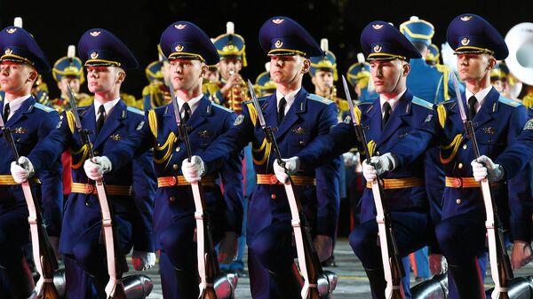 Церемония открытия XIV Международного военно-музыкального фестиваля Спасская башня — 2021