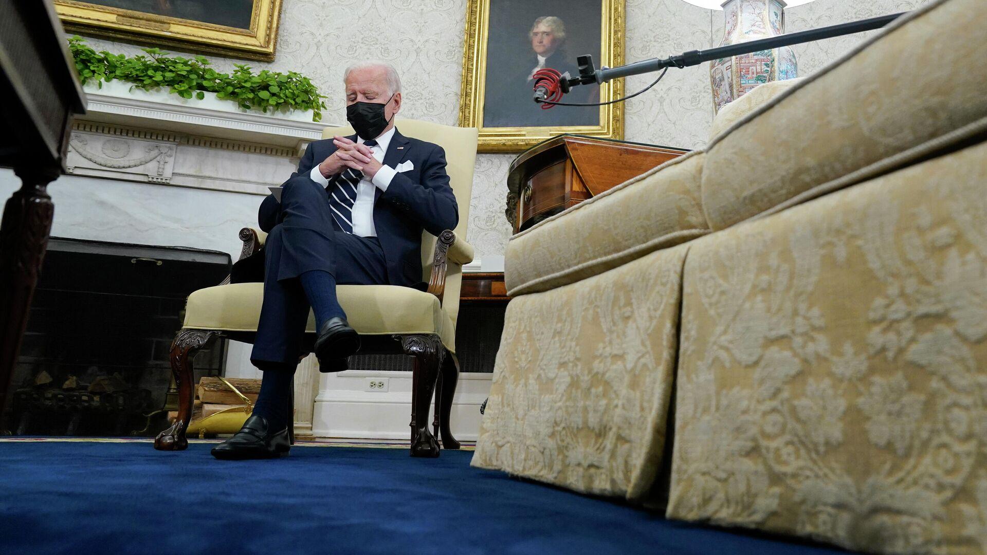 Президент Джо Байден во время встречи с премьер-министром Израиля Нафтали Беннеттом - РИА Новости, 1920, 09.09.2021